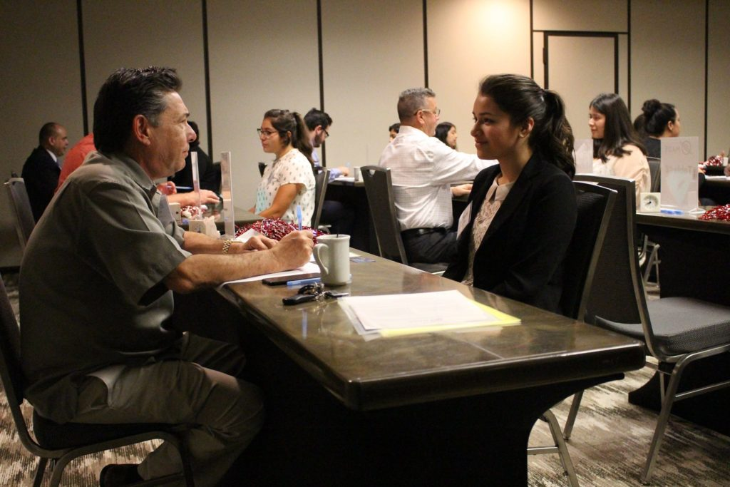 Students participate in a Mock Interview Day with industry and business leaders from the community image